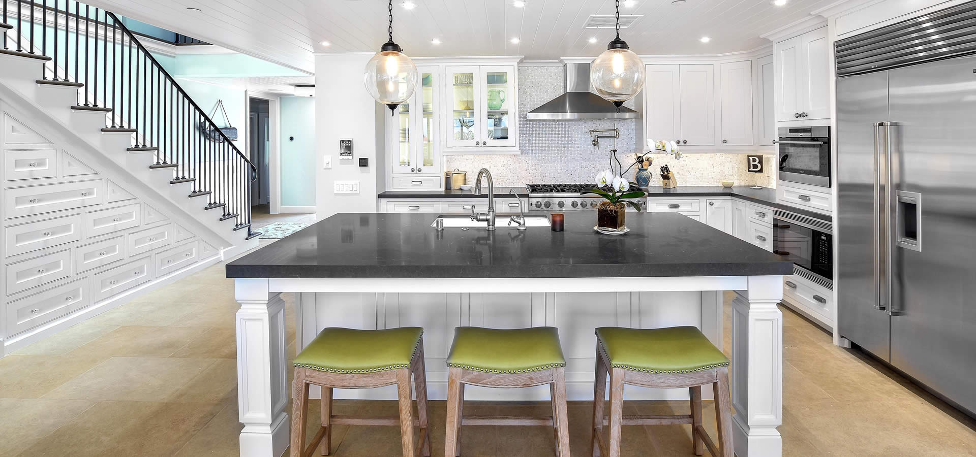 Modern kitchen design and remodel by Preferred Kitchen and Bath